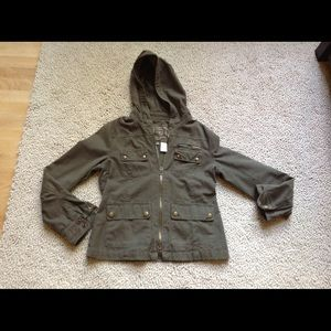 J Crew Aged and Washed Utility Jacket